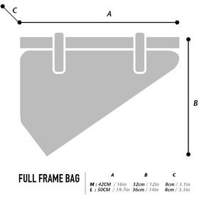 WOHO X-Touring Frame Dry Bag L, honeycomb iron grey